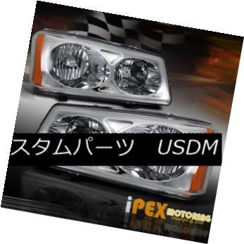 ヘッドライト 2003-2006 Chevy Silverado & Avalanche Chrome Headlights 2003-2006 Chevy Silverado& アバランシェクロームヘッドライト