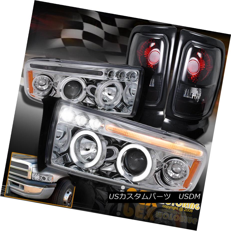 ヘッドライト 1994-2001 Dodge Ram 1500 2500 Halo Projector LED Headlight W/Signal + Tail Light 1994-2001 Dodge Ram 1500 2500 HaloプロジェクターLEDヘッドライトW /信号+テールライト