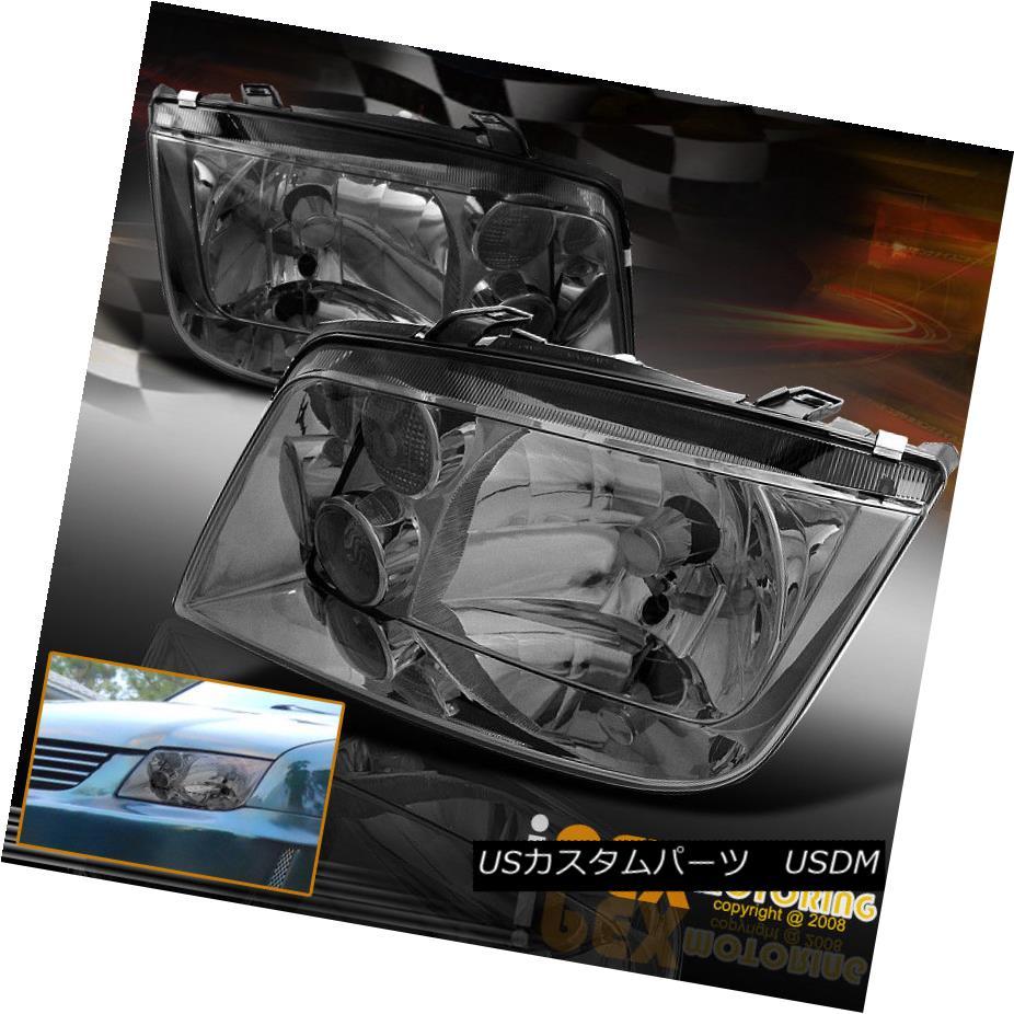 ヘッドライト (Soft-Smoke) 1999-2005 VW Jetta MK4 MK-4 Bora Style Headlights Headlamps (ソフトスモーク)1999-2005 VWジェッタMK4 MK-4ボラスタイルヘッドライトヘッドランプ