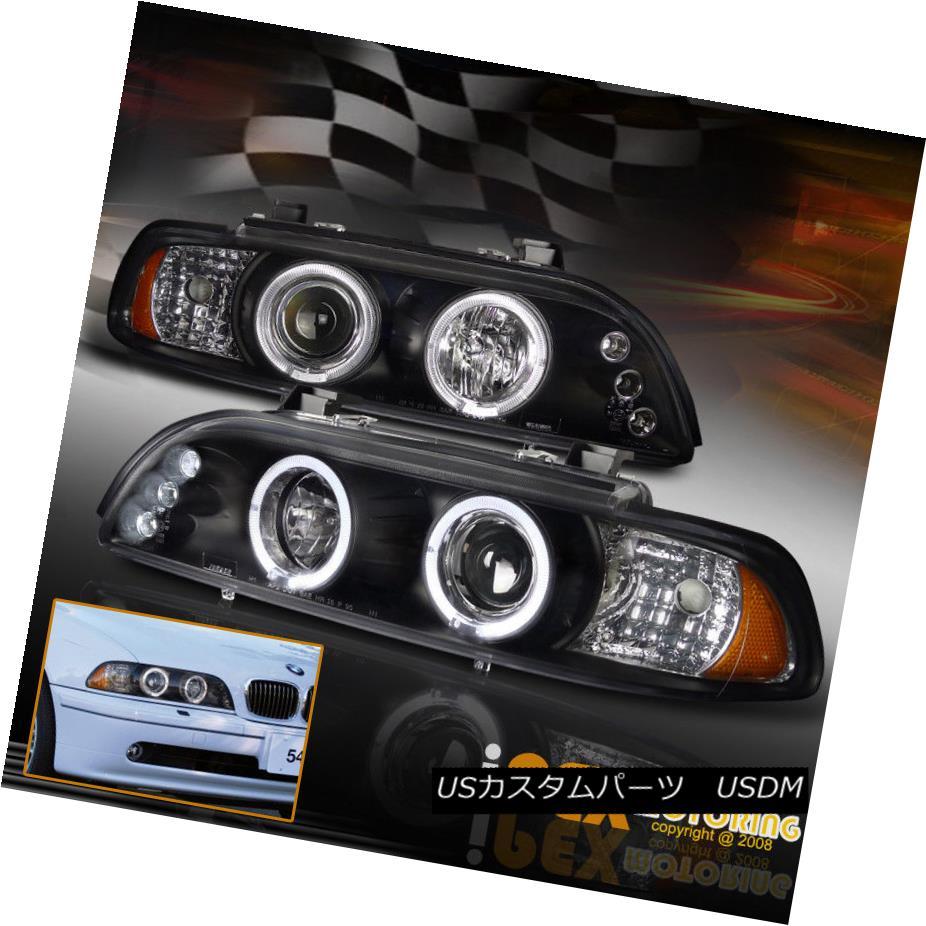 ヘッドライト 1997-2003 BMW E39 5-Series 525i 528i 540i Halo Projector Black LED Headlight 1997-2003 BMW E39 5シリーズ525i 528i 540iハロープロジェクターブラックLEDヘッドライト