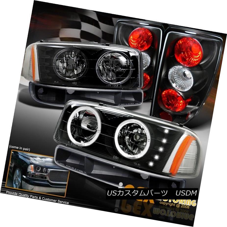ヘッドライト [BLACK] 2000-2006 GMC Yukon SLT SLE Halo LED Headlights W/ Signals + Tail Light [BLACK] 2000-2006 GMC Yukon SLT SLE HaloヘッドライトW /シグナル+テールライト