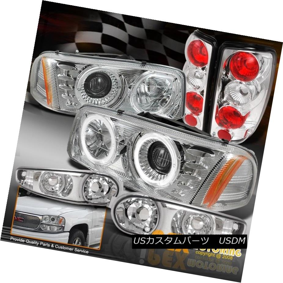 ヘッドライト 00-06 GMC Yukon Denali [Chrome Set] LED Halo Headlight W/ Signal & Tail Lamps 00-06 GMC Yukon Denali [クロムセット] LEDハローヘッドライトW /シグナル& テールランプ
