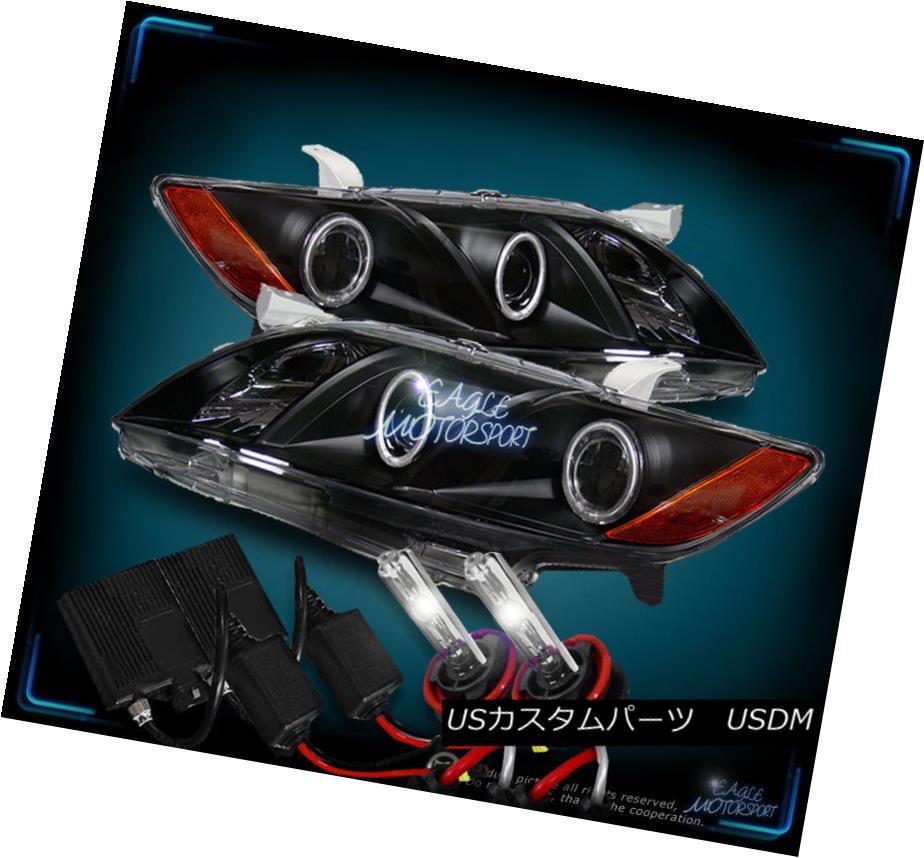 ヘッドライト [CCFL Halo+4300K Slim HID] 2007-2009 Toyota Camry Projector Black HeadLights [CCFL Halo + 4300K Slim HID] 2007-2009トヨタカムリプロジェクターブラックヘッドライト