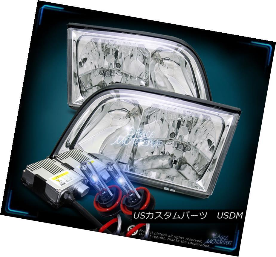 ヘッドライト 10000K HID CRYSTAL CHROME HEADLIGHTS 1992-1999 MERCEDES BENZ W140 S CLASS SEDAN 10000K HID CRYSTAL CHROME HEADLIGHTS 1992-1999メルセデスベンツW140 Sクラスセダン