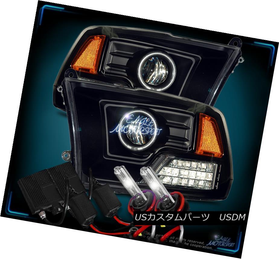 ヘッドライト [CCFL Halo+4300K Slim HID] 2009-2017 Dodge Ram Black Projector Headlights Set [CCFL Halo + 4300K Slim HID] 2009-2017 Dodge Ram黒プロジェクターヘッドライトセット