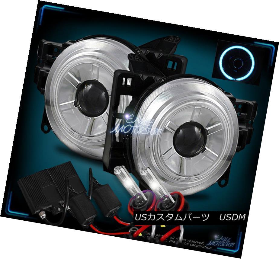 ヘッドライト 4300K SLIM HID+CCFL HALO Projector Headlights For 2007-2014 Toyota FJ Cruiser 4300KスリムHID + CCFLハロープロジェクターヘッドライト2007-2014トヨタFJクルーザー