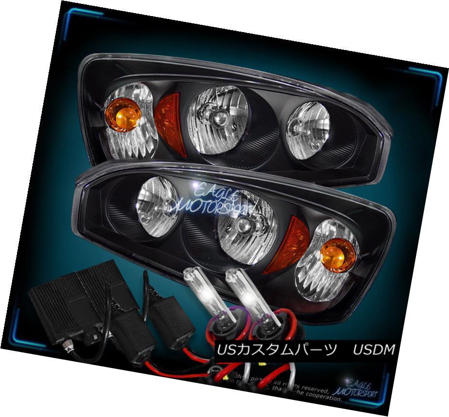 ヘッドライト 4300K SLIM HID CRYSTAL BLK HEADLIGHTS 2004-2007 CHEVROLET MALIBU HEAD LAMPS 4300Kスリム・ヒド・クリスタルBLKヘッドライト2004-2007シボレー・マルリブ・ヘッド・ランプ