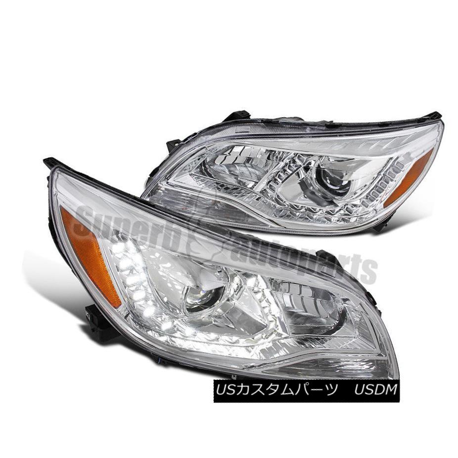 ヘッドライト 2013-2015 Chevy Malibu LED DRL Chrome Projector Headlights Clear Head Lamps 2013-2015シボレーマリブLED DRLクロームプロジェクターヘッドライトクリアヘッドランプ