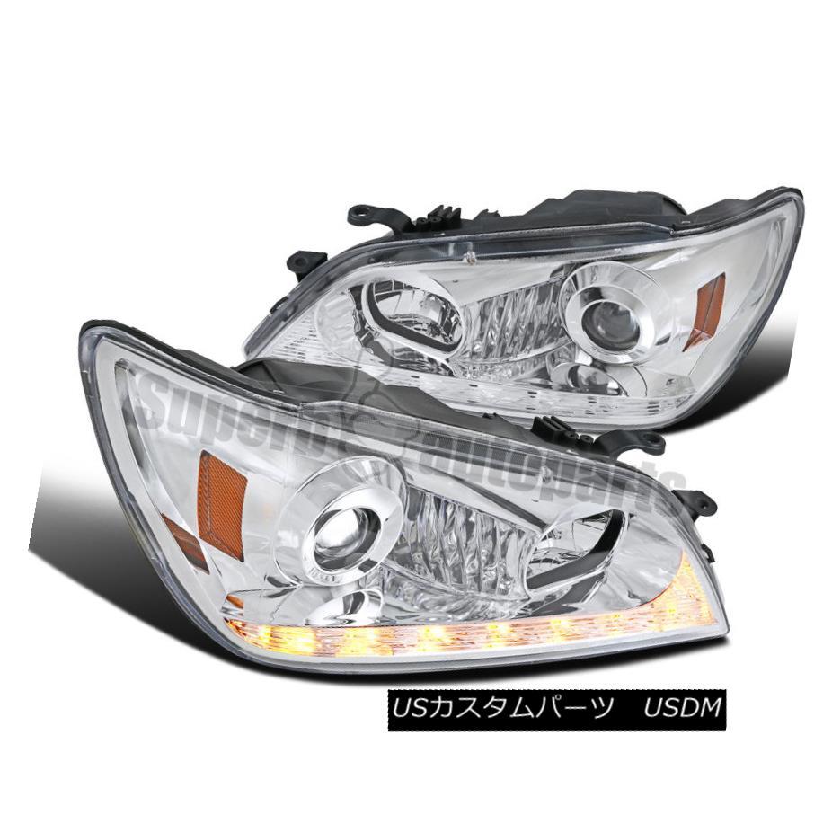 ヘッドライト 2001-2005 Lexus IS300 Chrome Projector Headlights w/ LED DRL Signal Strip 2001-2005 Lexus IS300クロームプロジェクターヘッドライト(LED DRLシグナルストリップ搭載)