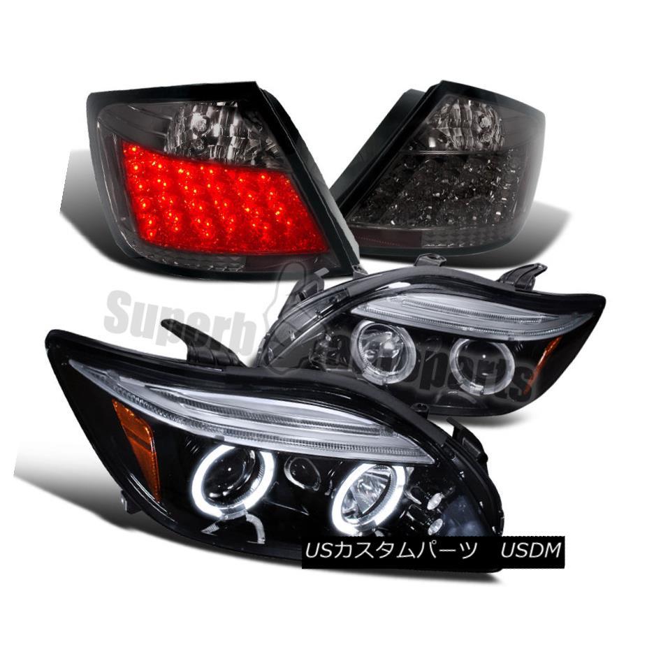 ヘッドライト 2005-2010 Scion tC Halo Projector Headlights Glossy Black+LED Tail Lamps Smoke 2005-2010 Scion tC Haloプロジェクターヘッドライト光沢ブラック+ LEDテールランプ煙