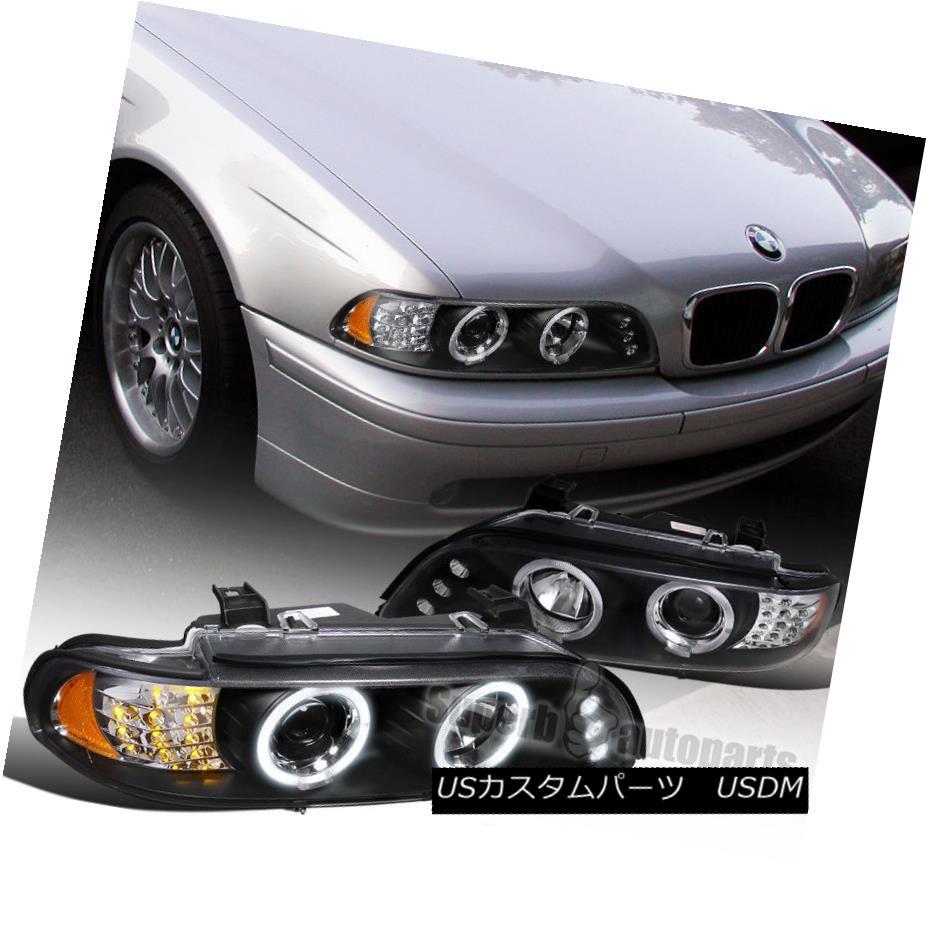 ヘッドライト 2001-2003 BMW E39 Led Signal Halo Projector Head Lights Black SpecD Tuning 2001-2003 BMW E39 Led信号ハロープロジェクターヘッドライトブラック仕様チューニング