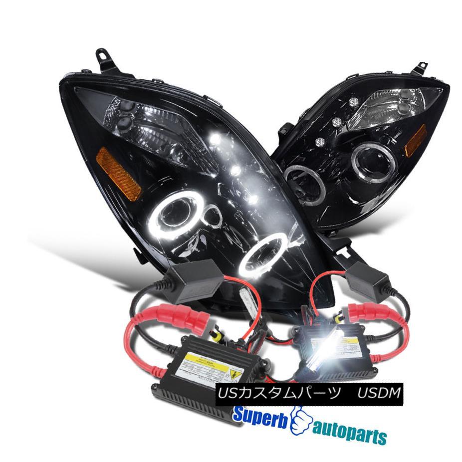 ヘッドライト 2006-2008 Yaris HB 2D Halo Projector LED Headlights Glossy Black+H1 Slim HID Kit 2006-2008 Yaris HB 2D HaloプロジェクターLEDヘッドライト光沢ブラック+ H1スリムHIDキット