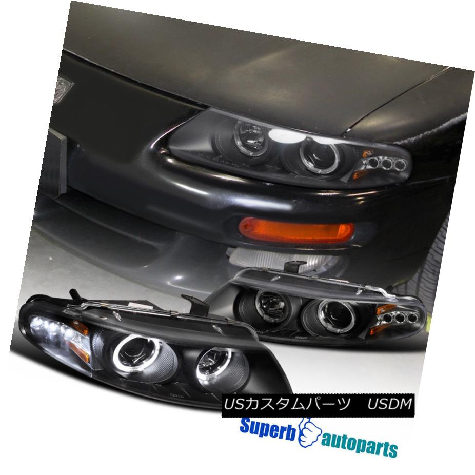 ヘッドライト 1997-2000 Sebring/Avenger Halo Projector Led Headlights Black SpecD Tuning 1997-2000 Sebring / Avenge  HaloプロジェクターはヘッドライトをLedしました。ブラック仕様調整