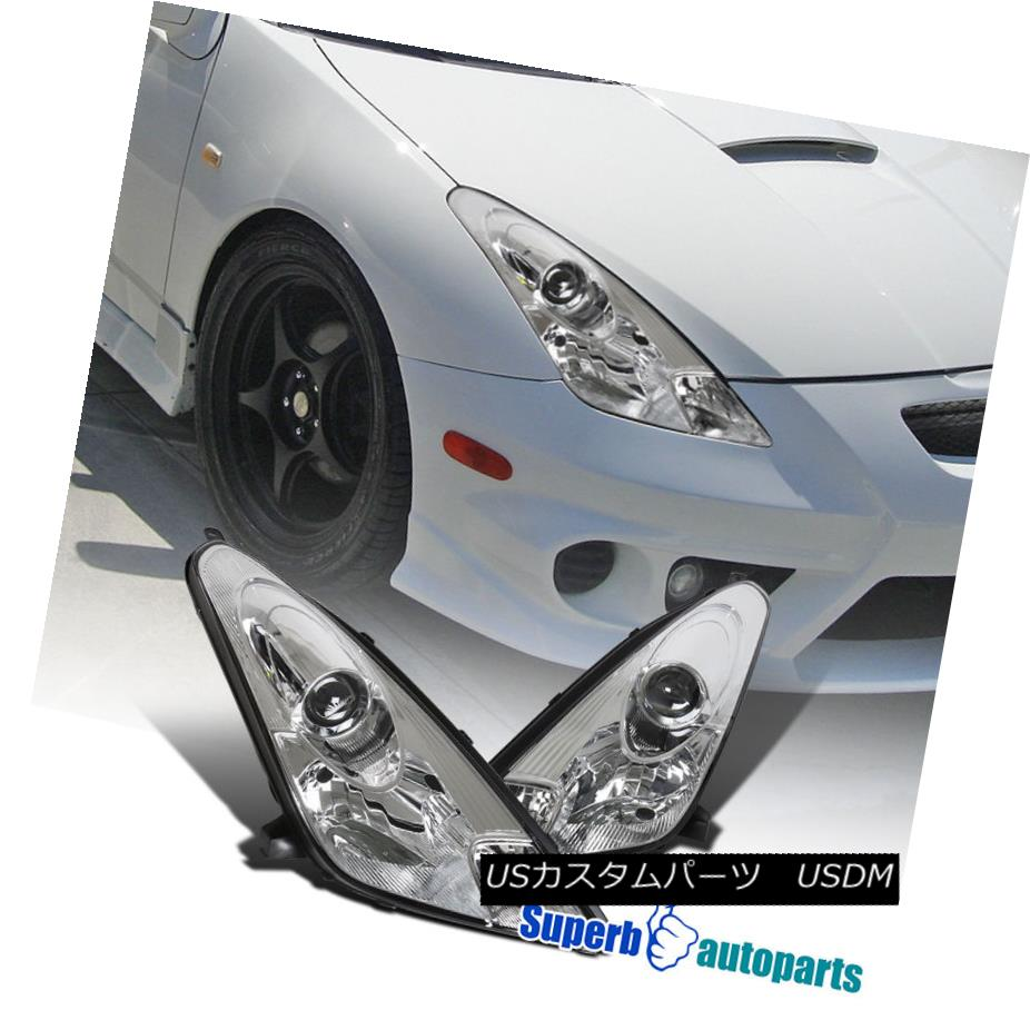 ヘッドライト 00-05 Toyota Celica Projector Headlights Chrome Replacement Left+Right 00-05トヨタセリカプロジェクターヘッドライトChrome Replacement Left + Right