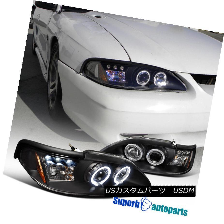ヘッドライト 1994-1998 Ford Mustang Led Dual Halo Projector Headlights Black SpecD Tuning 1994-1998 Ford Mustangはデュアル・ハロー・プロジェクター・ヘッドライトを採用しました。ブラック・スペック・チューニング