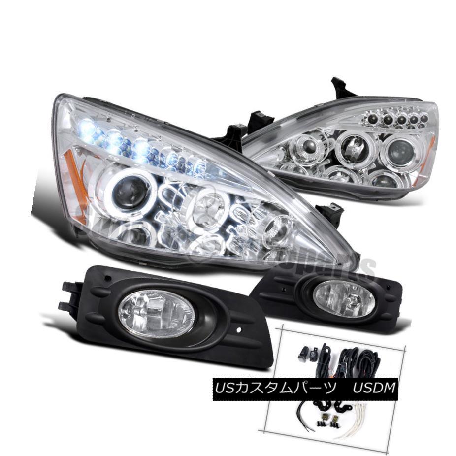 ヘッドライト For 2006-2007 Honda Accord 4dr Sedan Diamond Headlights Chrome+Bumper Lamp Clear 2006 - 2007年ホンダアコード4drセダンダイヤモンドヘッドライトクローム+バンパーランプクリア