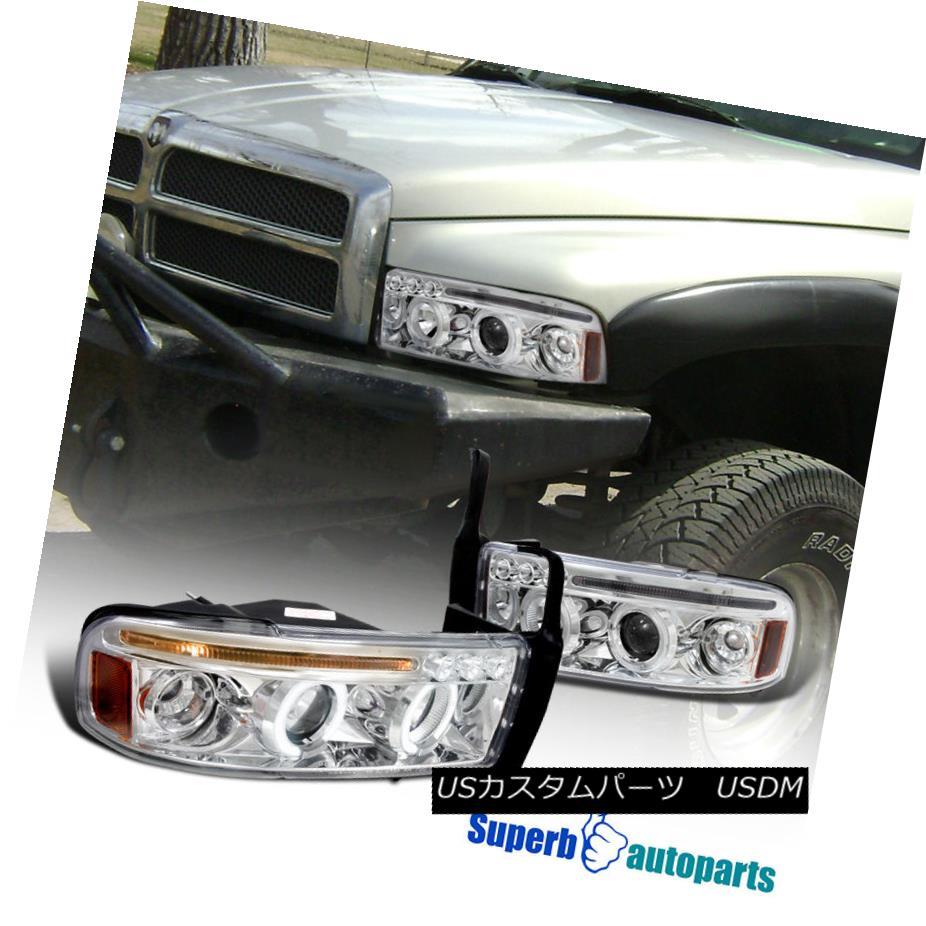 ヘッドライト 1994-2001 Dodge Ram Halo LED Projector Headlights Chrome SpecD Tuning 1994-2001 Dodge Ram Halo LEDプロジェクターヘッドライトChrome SpecD Tuning