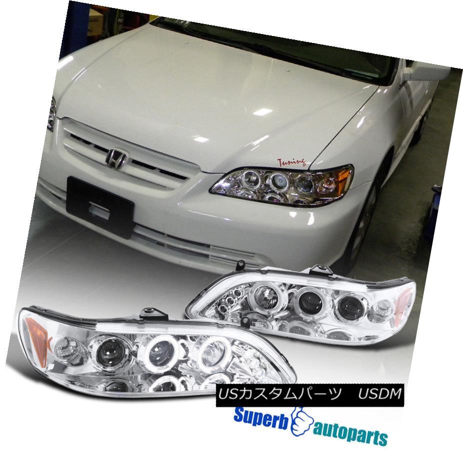 ヘッドライト For 1998-2002 Honda Accord Led Dual Halo Projector Headlights Clear SpecD Tuning 1998-2002 Honda Accord Ledデュアル・ハロー・プロジェクター・ヘッドライトクリア・スペック・チューニング