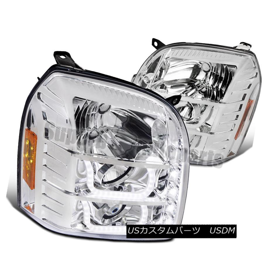ヘッドライト 2007-2012 GMC Yukon Denali XL LED DRL Halo Projector Headlights Clear Head Lamps 2007-2012 GMC Yukon Denali XL LED DRLハロープロジェクターヘッドライトクリアヘッドランプ