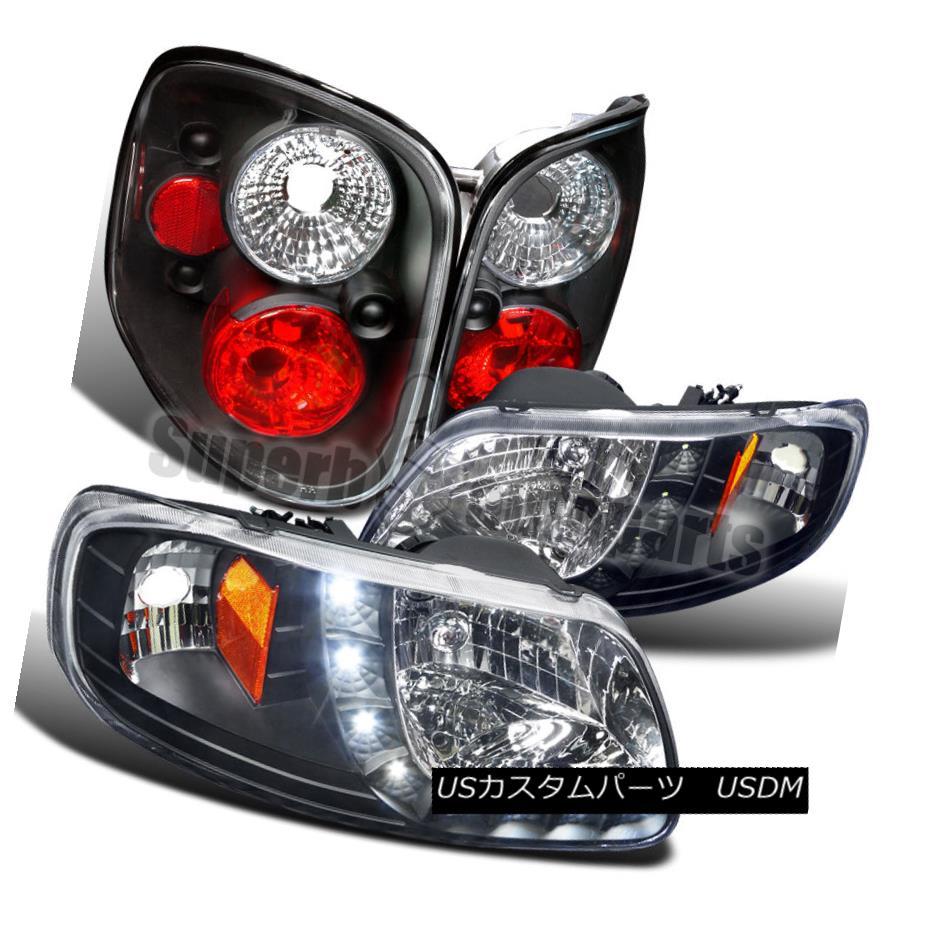 ヘッドライト 1997-2000 Ford F150 Flareside SMD LED DRL Headlights+Tail Brake Lamps Black 1997-2000 Ford F150 Flareside SMD LED DRLヘッドライト+タイ lブレーキランプブラック