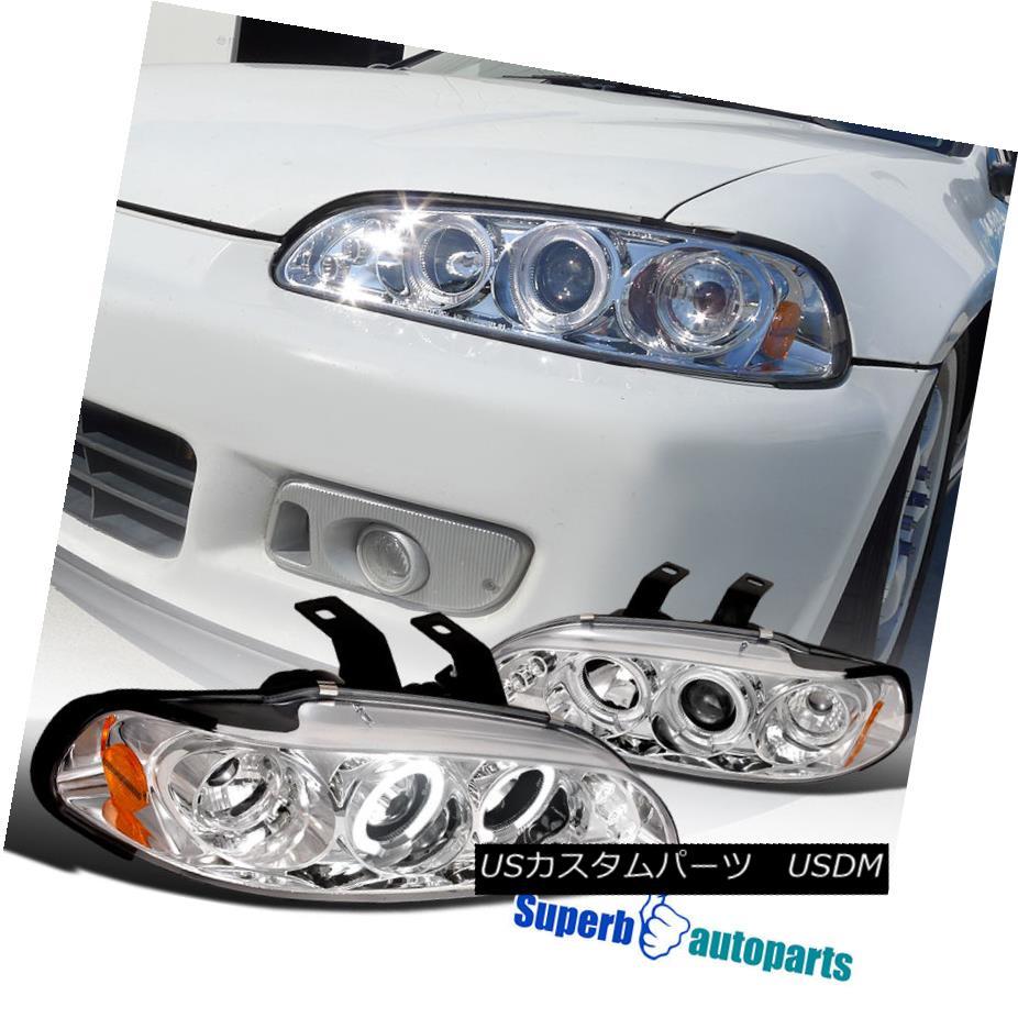 ヘッドライト For 1992-1995 Honda Civic Clear Halo Led Projector Headlight Chrome SpecD Tuning 1992-1995 Honda Civic Clear Halo LedプロジェクターヘッドライトChrome SpecD Tuning