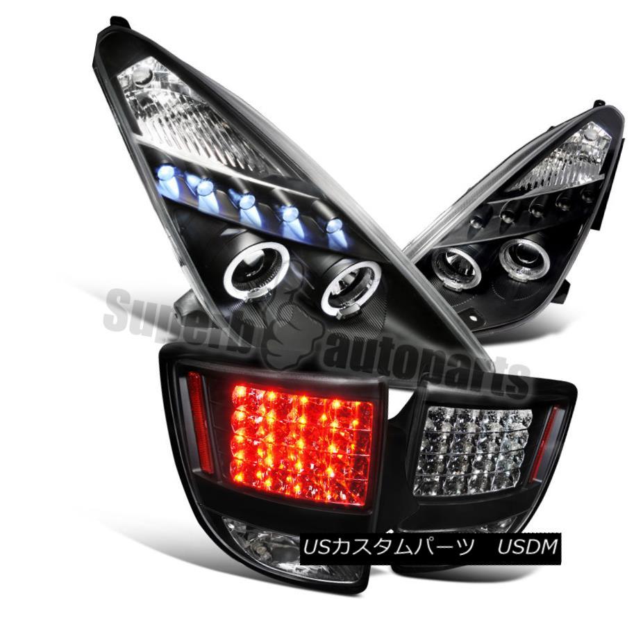 ヘッドライト 2000-2005 Toyota Celica Projector Headlights+LED Tail Lights Black Combo 2000-2005トヨタセリカプロジェクターヘッドライト+ LEDテールライトブラックコンボ