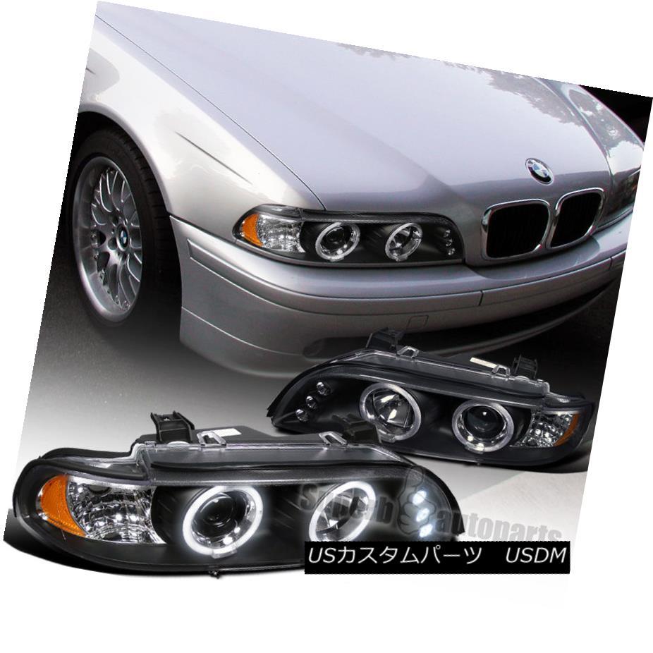 ヘッドライト 1996-2003 BMW E39 528i 540i Dual Halo LED Projector Headlight Black SpecD Tuning 1996-2003 BMW E39 528i 540iデュアル・ハローLEDプロジェクター・ヘッドライトブラック・スペック・チューニング