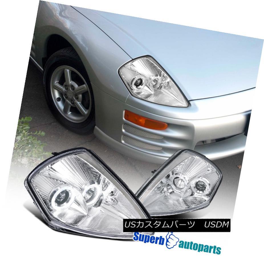 ヘッドライト 2000-2005 Eclipse Dual Halo Clear Projector Headlights Chrome Head Lamps 2000-2005 Eclipseのデュアルヘイロークリアプロジェクターヘッドライトクロームヘッドランプ