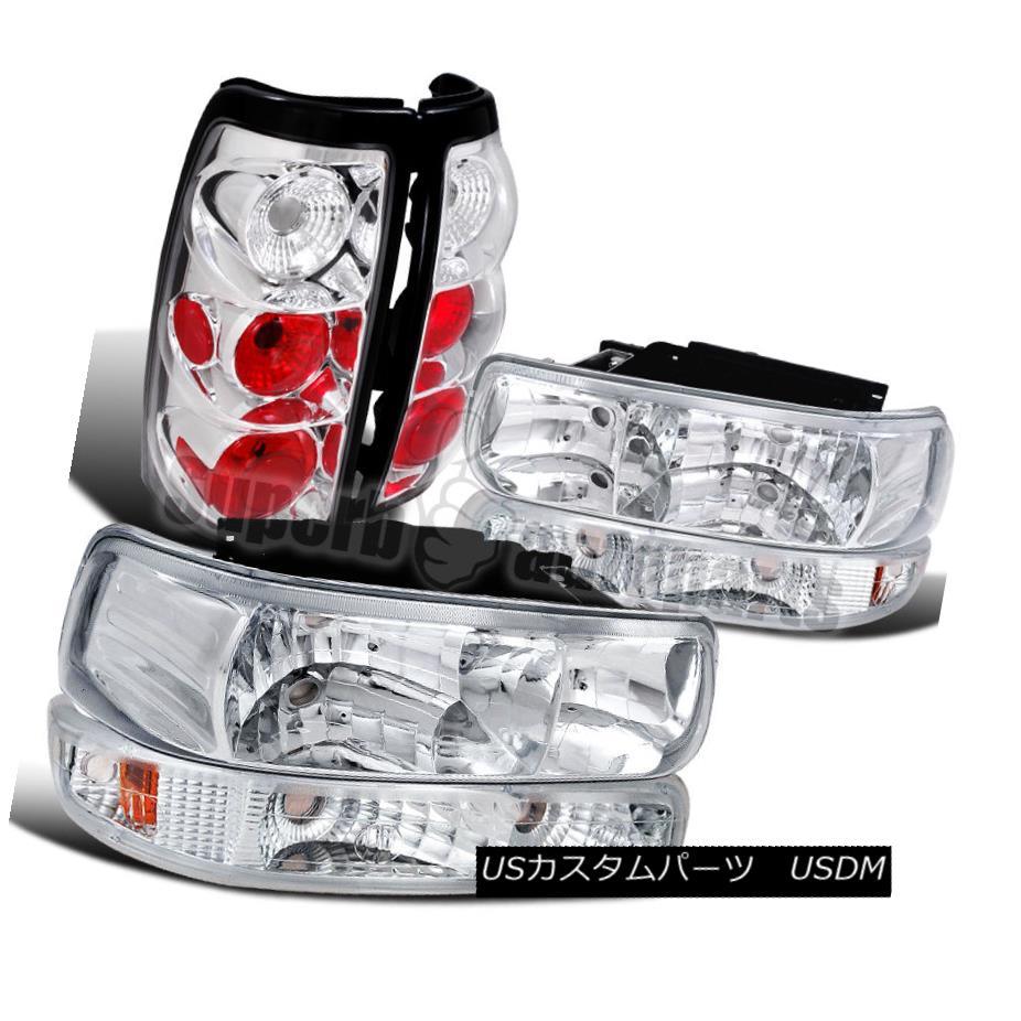 ヘッドライト 1999-2002 Silverado Headlights+Bumper Signal Lights+Tail Brake Lamps Chrome 1999-2002 Silveradoヘッドライト+ Bum 、シグナルライト+テールブレーキランプクローム