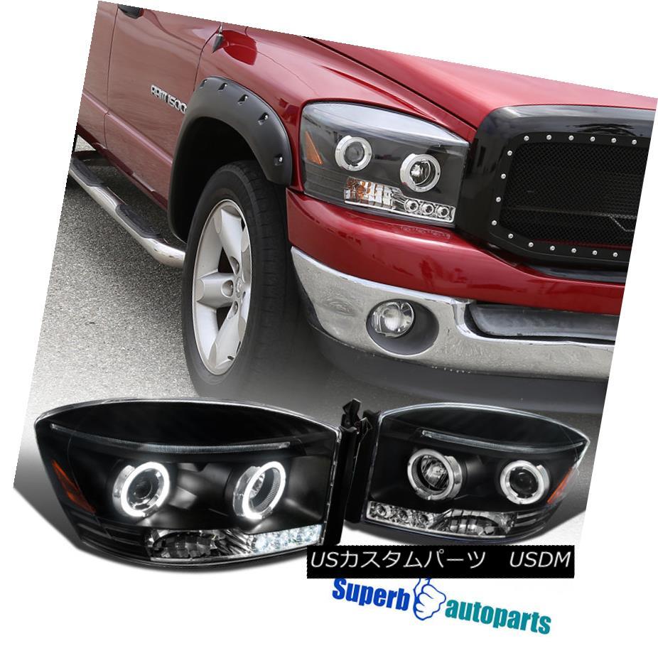ヘッドライト 2006-2008 Dodge Ram 1500 2500 3500 Led Halo Projector Headlights Balck SpecD 2006-2008 Dodge Ram 1500 2500 3500 Led HaloプロジェクターヘッドライトブラックSpecD