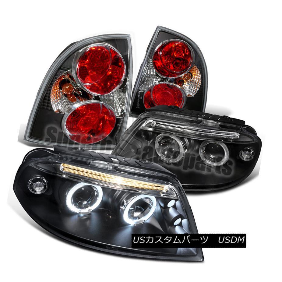 ヘッドライト 2001-2005 VW Passat LED Halo Projector Headlights+Tail Brake Lamps Black 2001-2005 VW Passat LEDハロープロジェクターヘッドライト+タイ lブレーキランプブラック