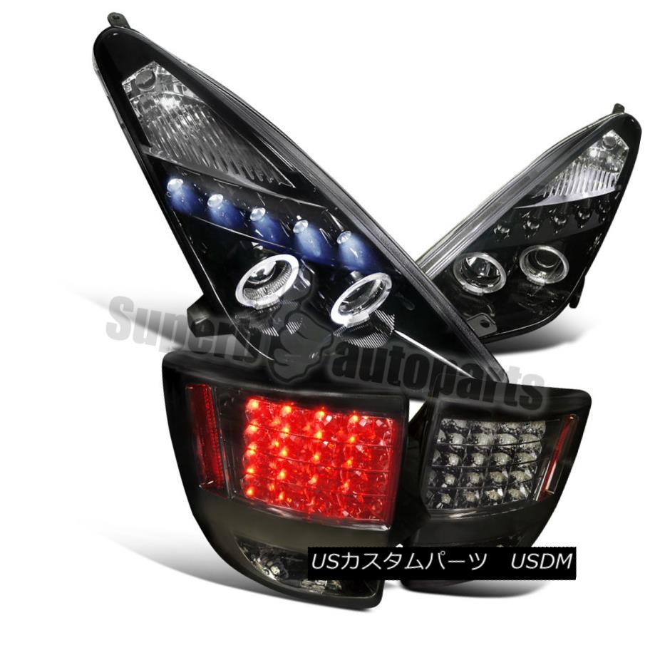 ヘッドライト 2000-2005 Toyota Celica Projector Headlights+LED Tail Lights Smoke Combo 2000-2005トヨタセリカプロジェクターヘッドライト+ LEDテールライトスモークコンボ