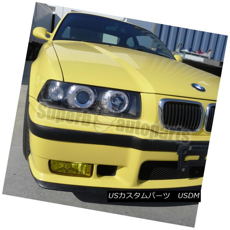 ヘッドライト 1992-1998 BMW E36 2/4DR 325i M3 Dual Halo Projector Headlight Black SpecD Tuning 1992-1998 BMW E36 2 / 4DR 325i M3デュアル・ハロー・プロジェクター・ヘッドライト・ブラック・スペック・チューニング