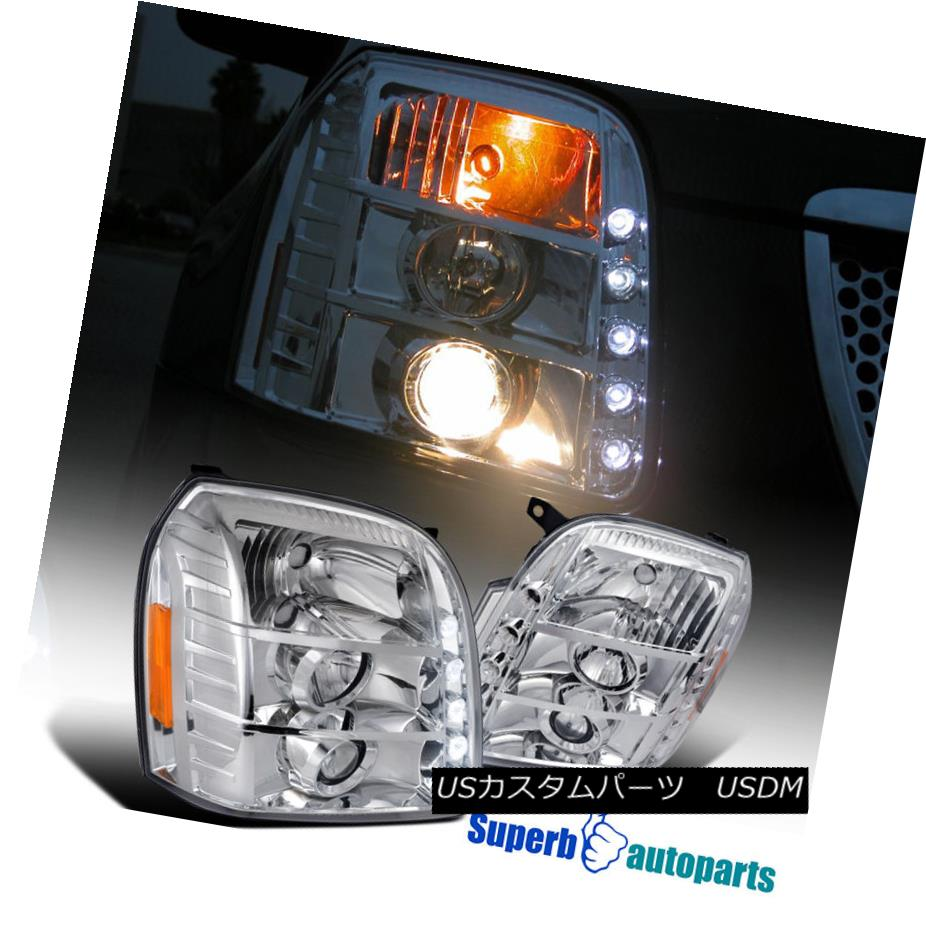 ヘッドライト 2007-2012 GMC Yukon Denali XL LED Projector Headlights Chrome SpecD Tuning 2007-2012 GMC Yukon Denali XL LEDプロジェクターヘッドライトChrome SpecD Tuning