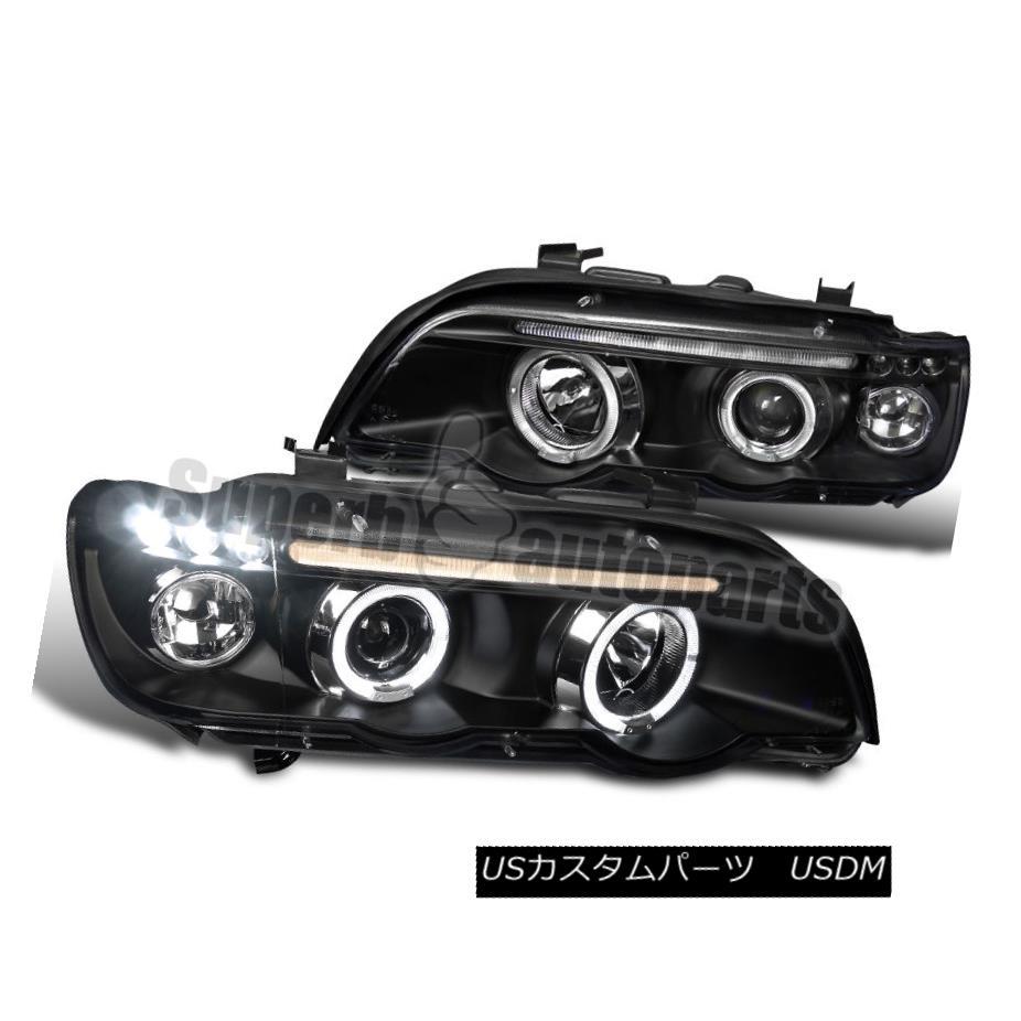 ヘッドライト 2001-2003 BMW X5 Dual Halo Led Projector Headlights Head Lamp Black SpecD Tuning 2001-2003 BMW X5デュアルHalo LedプロジェクターヘッドライトヘッドランプブラックSpecDチューニング
