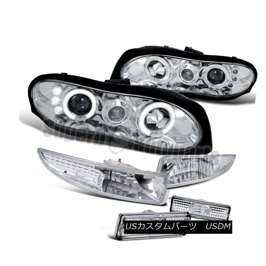 ヘッドライト 1998-2002 Camaro Halo LED Projector Headlight+Bumper Lamp+Rear Side Marker Clear 1998-2002 Camaro Halo LEDプロジェクターヘッドライト+バンプ ランプ+リアサイドマーカークリア