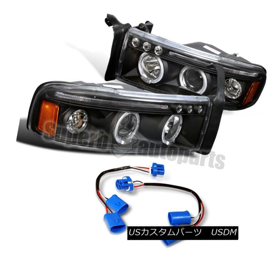 ヘッドライト 1994-2001 Dodge Ram Sport Pack LED Halo Projector Headlights Black 1994-2001 Dodge Ram Sport Pack LEDハロープロジェクターヘッドライトブラック