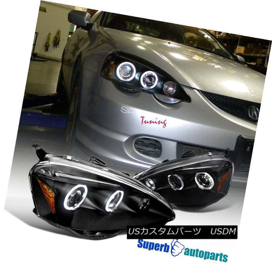 ヘッドライト 2002-2004 Acura RSX Halo LED Projector Headlights JDM Black SpecD Tuning 2002-2004 Acura RSX Halo LEDプロジェクターヘッドライトJDM Black SpecD Tuning