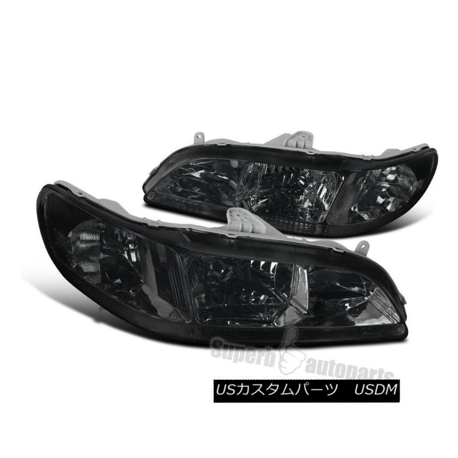 ヘッドライト Fit 1998-2002 Honda Accord JDM Headlights Lamps Smoke Lens Clear Reflector フィット1998年?2002年ホンダアコードJDMヘッドライトランプスモークレンズクリアリフレクター