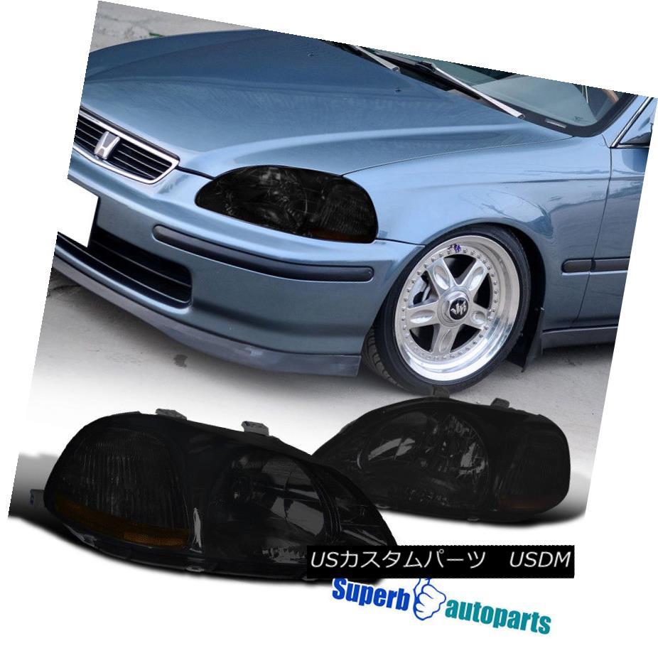 ヘッドライト For 1996-1998 Honda Civic Ex Lx Si JDM Headlights Smoke Lens 1996-1998 Honda Civic Ex Lx Si JDMヘッドライトスモークレンズ