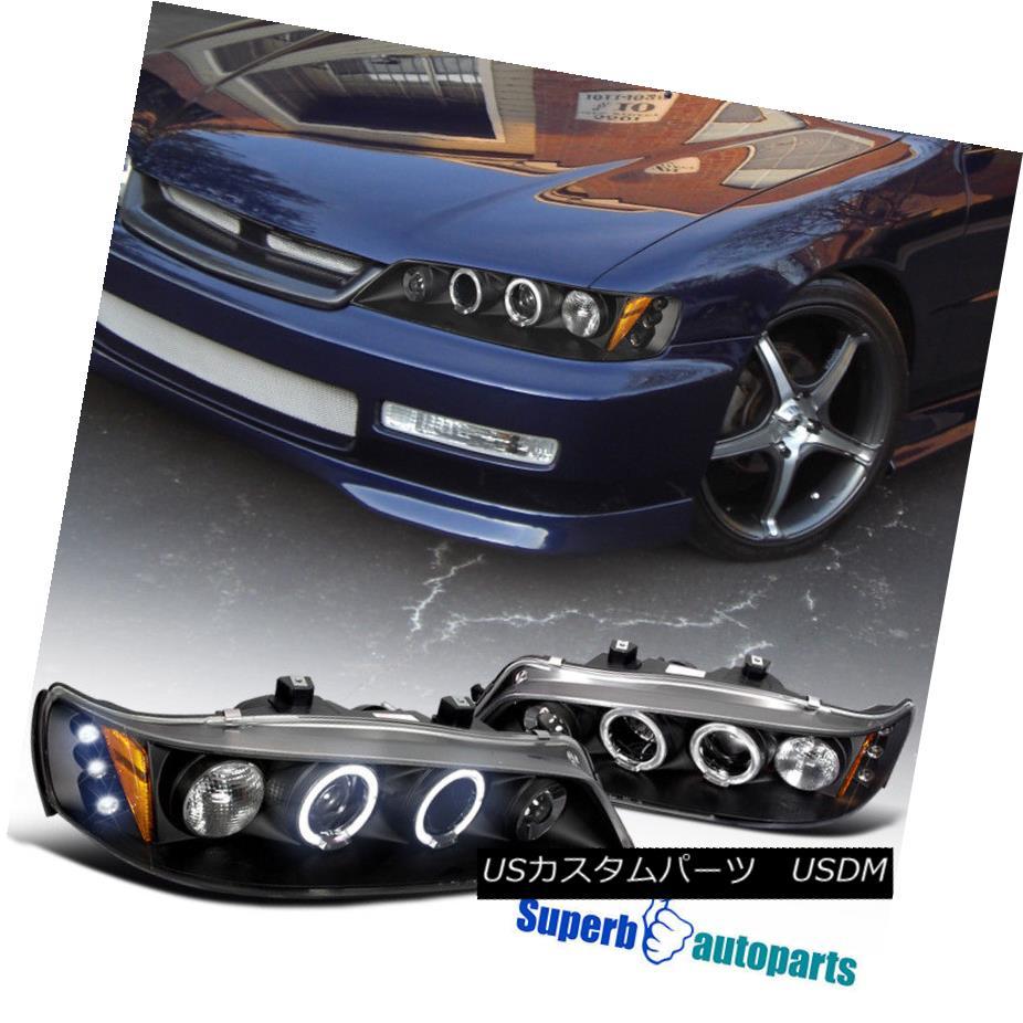 ヘッドライト LED Halo Projector Headlights Lamps For 1994-1997 Honda Accord Replacement Pair LEDハロープロジェクターヘッドライトランプ1994-1997 Honda Accord Replacement Pair