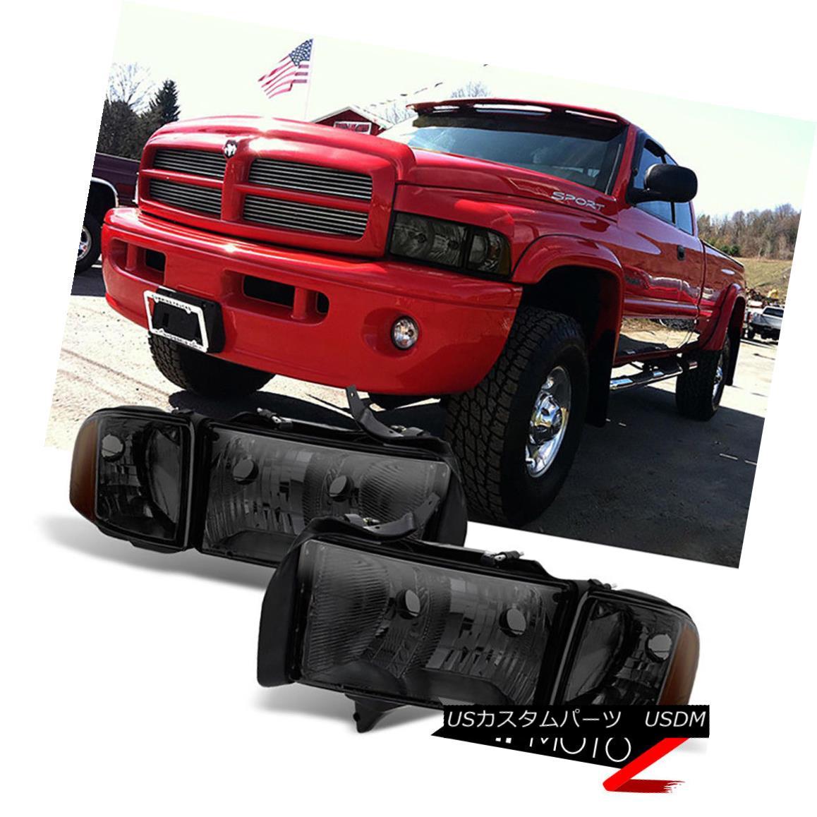 ヘッドライト 1994-2001 Dodge Ram [UPGRADE TO SPORT MODEL] Front Smoke Corner Head Lights Lamp 1994-2001 Dodge Ram [スポーツモードにアップグレード]フロントスモークコーナーヘッドライトランプ