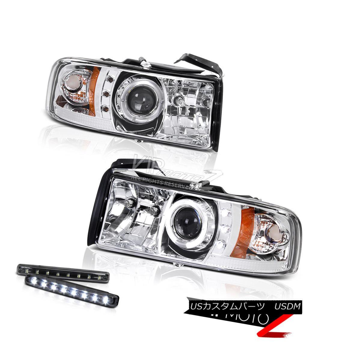ヘッドライト >>LED LIGHT BAR KIT<< Halo Projector Chrome Headlights 1994-2001 Dodge RAM &gt;&lt; LEDライトバーキット&lt; ハロープロジェクタークロームヘッドライト1994-2001 Dodge RAM
