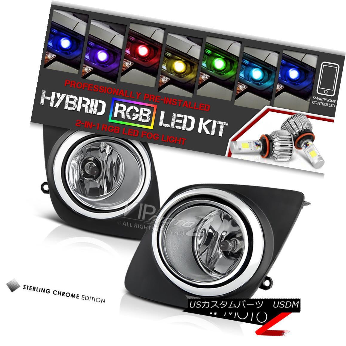 ヘッドライト [Built-In RGB LED] 2009-2012 Toyota RAV4 Replacement Fog Lights Clear Left+Right [内蔵RGB LED] 2009-2012トヨタRAV4交換フォグライトクリア左+右