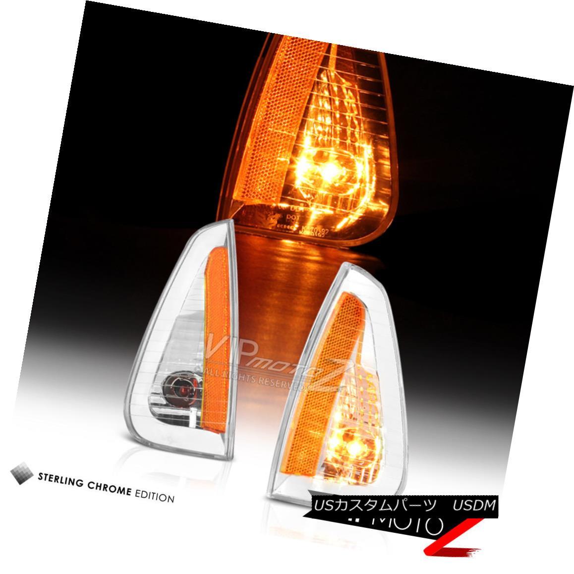ヘッドライト Dodge Charger 2006-2010 Crystal Clear Corner Parking Side Marker Light Lamp Pair ダッジチャージャー2006-2010クリスタルクリアコーナーパーキングサイドマーカーライトランプペア