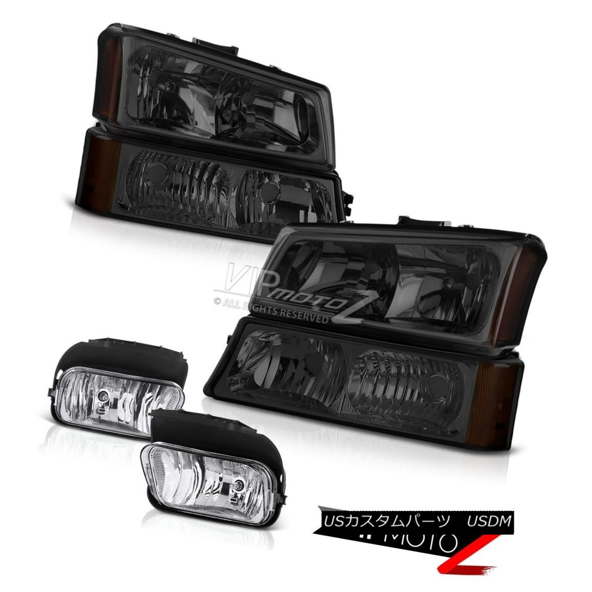 ヘッドライト Dark Front Headlight Bumper Corner Lamp 03-06 Silverado DuraMax Driving Foglight ダークフロントヘッドライトバンパーコーナーランプ03-06 Silverado DuraMax Driving Foglight