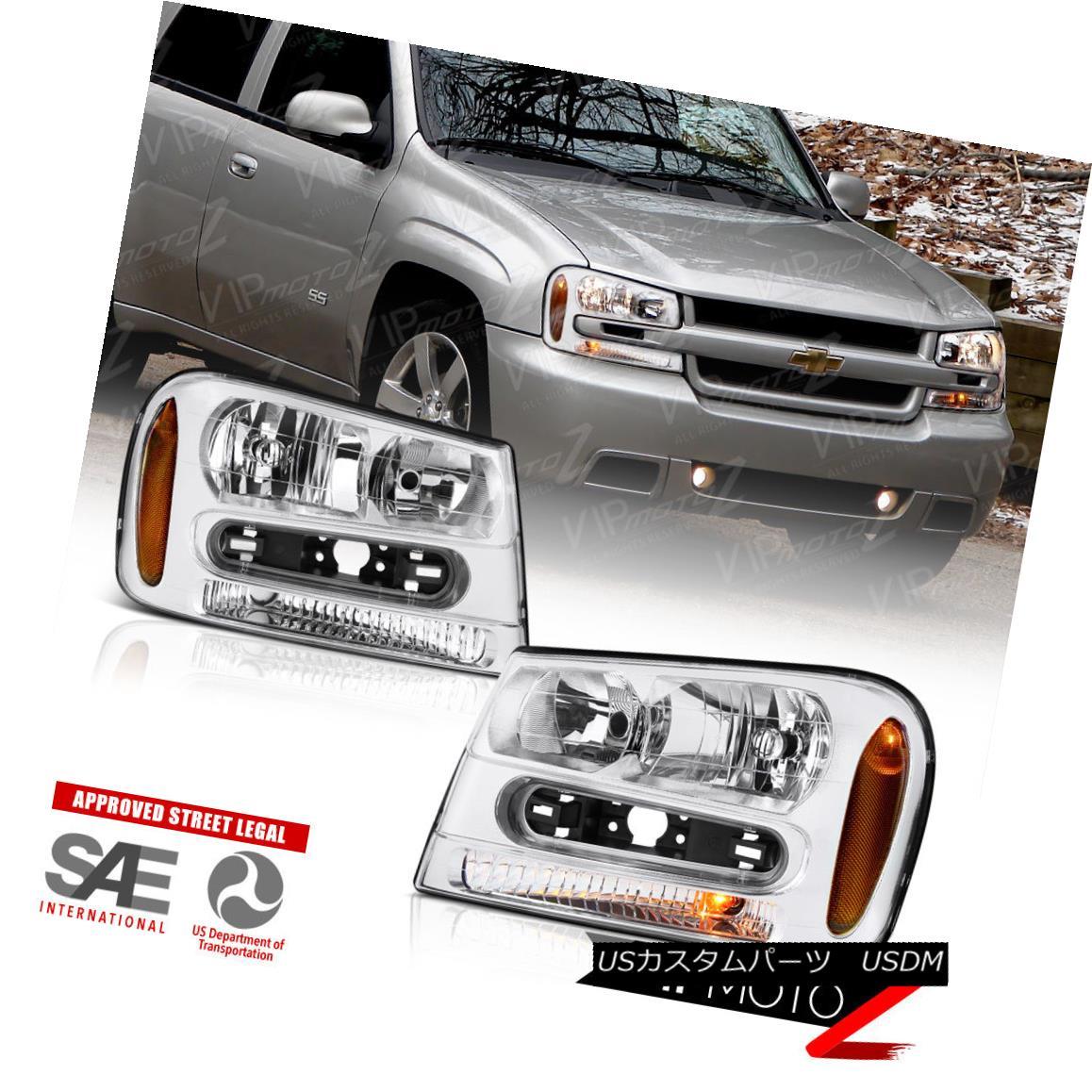 ヘッドライト 2002-2009 Chevrolet Trail Blazer Front Factory Style Headlights PAIR 02-06 EXT 2002-2009シボレートレイルブレザーフロントファクトリースタイルヘッドライトPAIR 02-06 EXT
