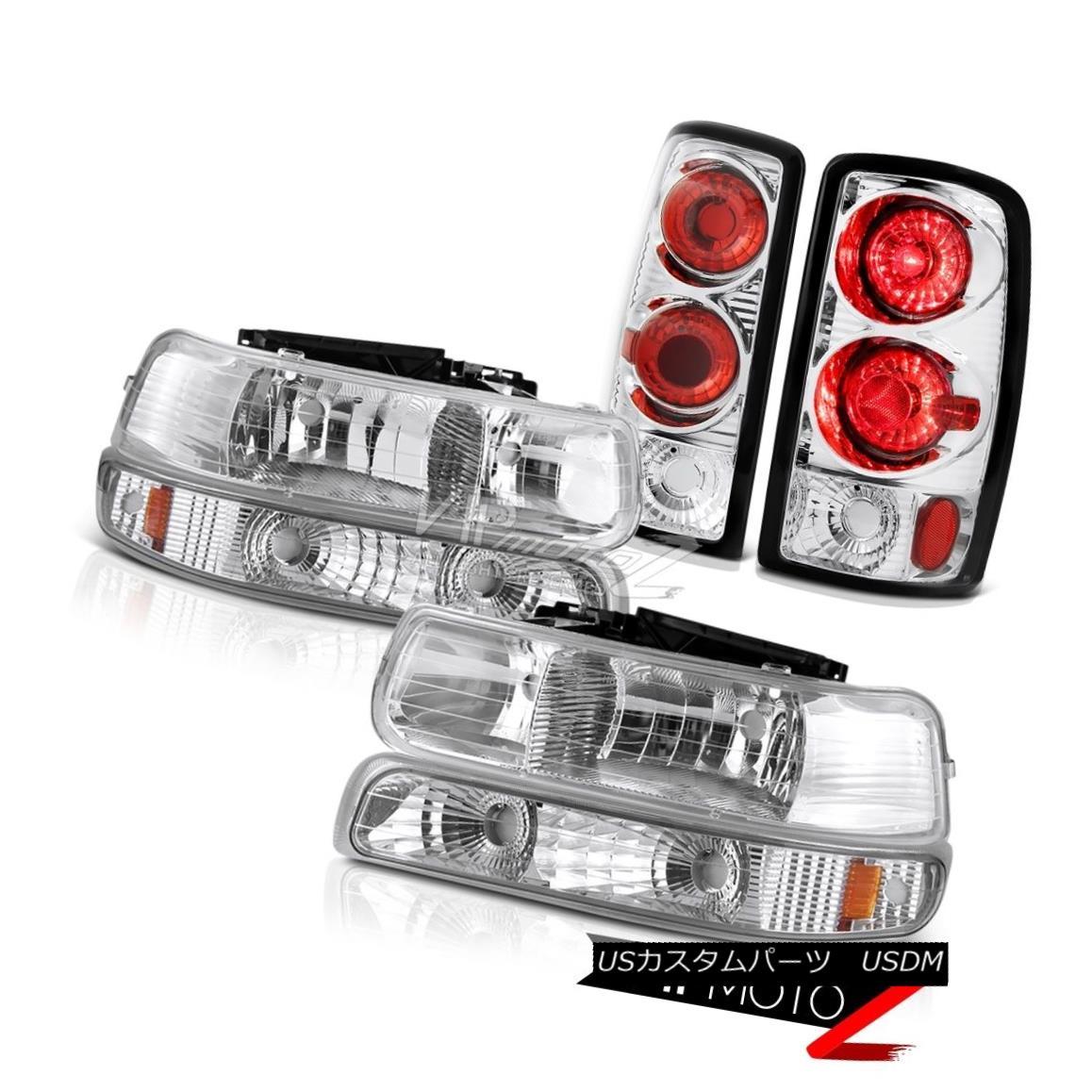 Chrome//Clear *FULL LED* Tail Light Rear Reverse Brake Lamp for 94-02 Dodge Ram