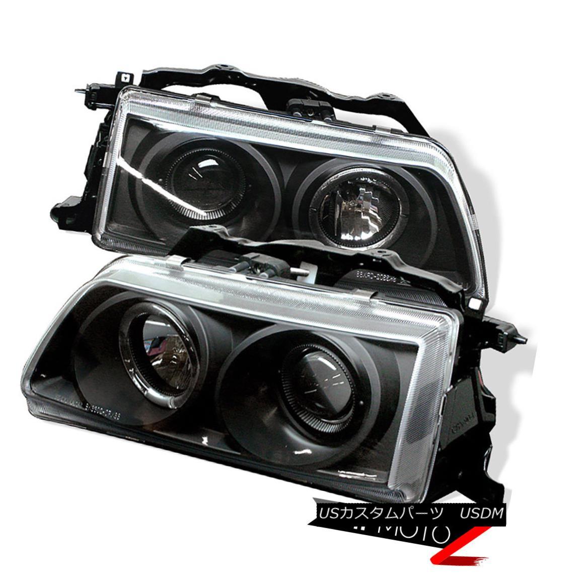 ヘッドライト 90-91 Honda Civic 2/3/4DR HB JDM Black Halo Projector Headlight Left+Right Lamps 90-91ホンダシビック2/3 / 4DR HB JDMブラックハロープロジェクターヘッドライト左右+ランプ