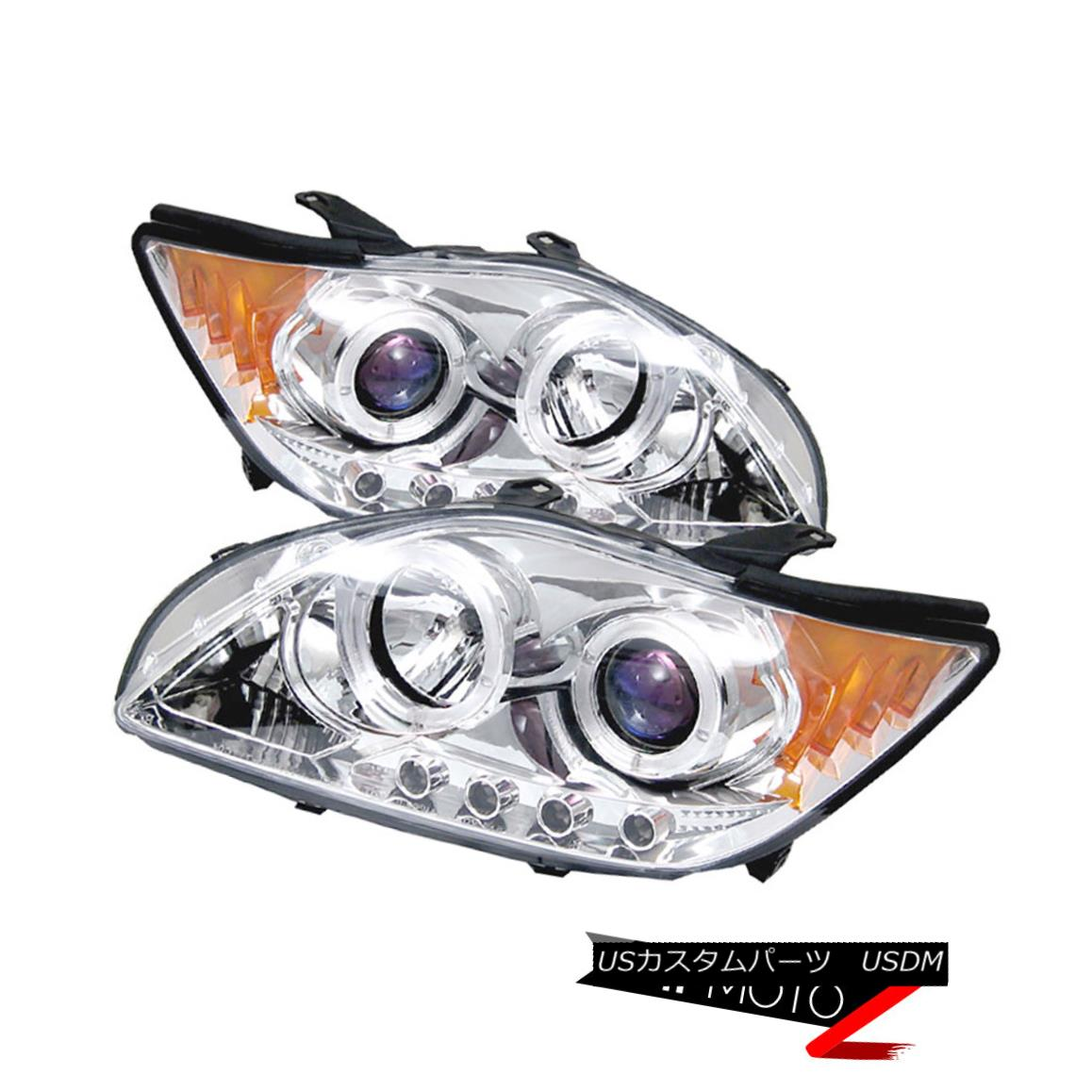 ヘッドライト Scion tC 05-07 Halo Angel Eye Projector Clear Headlight Amber Signal Lamp L+R Scion tC 05-07 Halo Angel EyeプロジェクタークリアヘッドライトアンバーシグナルランプL + R